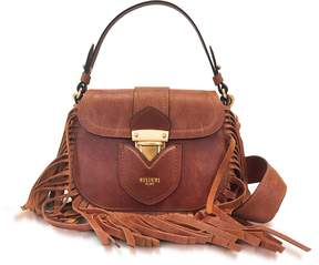 Moschino Brown Leather Crossbody Bag w/Fringes