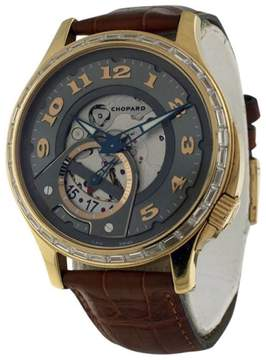 Chopard L.U.C. Diamond 18K Yellow Gold 41mm Mens Watch