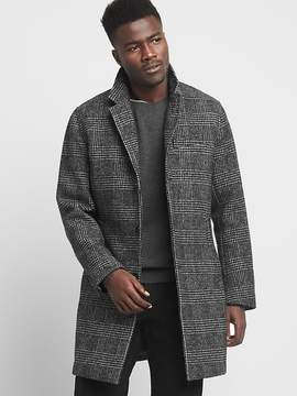 Gap Wool blend plaid crombie coat