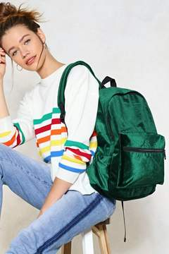 Nasty Gal WANT How Touching Velvet Backpack