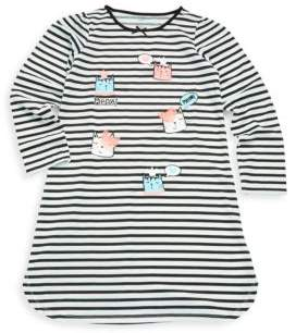 Petit Lem Little Girl's Cat Striped Dress