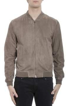 Herno Men's Beige Leather Outerwear Jacket.