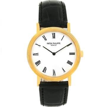 Patek Philippe Calatrava 5120 18K Yellow Gold & Leather Automatic 35mm Mens Watch