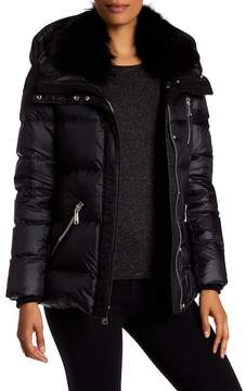 Andrew Marc Chloe Genuine Fox Fur Quilted Jacket