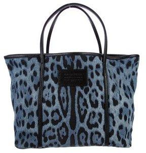 Dolce & Gabbana Denim Miss Escape Tote - BLACK - STYLE