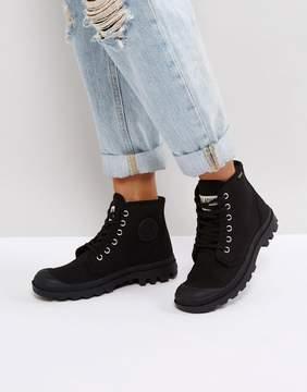Palladium Pampa Hi Originale Black Canvas Flat Ankle Boots
