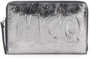 McQ Women's Metallic Leather Pouch
