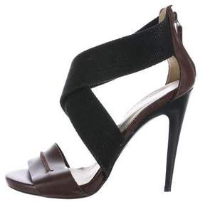 CNC Costume National C'N'C Leather Cutout Sandals