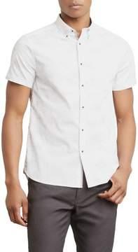 Kenneth Cole New York Short-Sleeve Galaxy Print Shirt - Men's