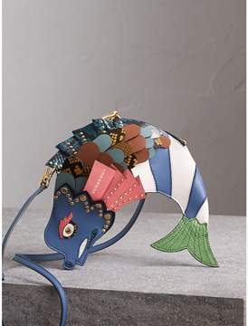 Burberry The Fish - Leather and Snakeskin Crossbody Bag