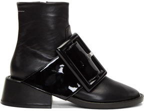 MM6 MAISON MARGIELA Black Oversized Buckle Boots
