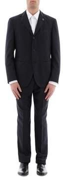 Lardini Men's Blue Cotton Suit.