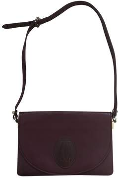 Cartier Vintage Burgundy Leather Handbag