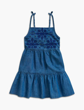 Lucky Brand CHAMBRAY TIERED DRESS