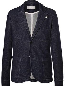 Oliver Spencer Loungewear Blue Mélange Wool And Cotton-Blend Blazer