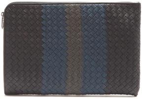 Bottega Veneta Intrecciato tri-colour leather document holder