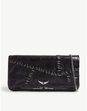 Zadig & Voltaire Staple leather clutch