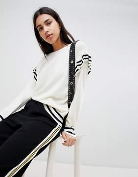 Esprit Stripe And Frill Sweater