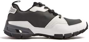 Prada Low-top rubber-panelled mesh trainers