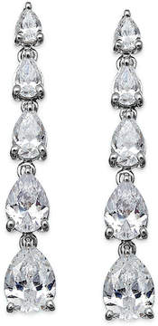 Arabella Swarovski Zirconia Graduated Linear Earrings in Sterling Silver (8 ct. t.w.)