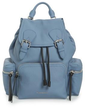 Burberry Medium Rucksack Deerskin Backpack - Blue - BLUE - STYLE