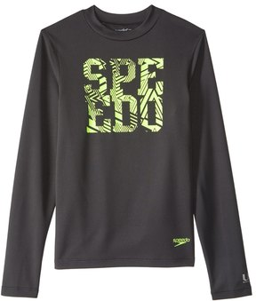 Speedo Boys' Zip Zing Logo Long Sleeve Swim Tee (620) - 8154776