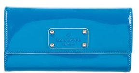 Kate Spade Patent Leather Continental Wallet - BLUE - STYLE