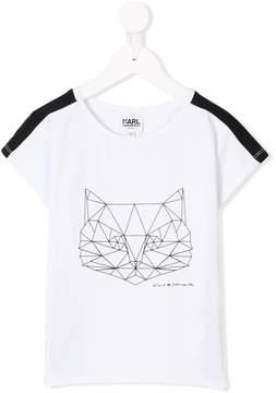 Karl Lagerfeld origami cat print T-shirt