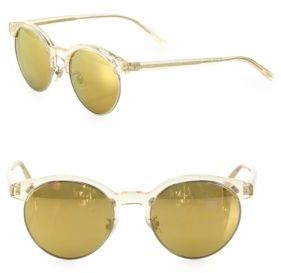 Oliver Peoples Ezelle 51MM Round Mirrored Sunglasses