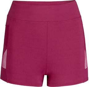 Capezio Maroon Mesh-Insert Shorts - Women