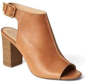 Gap Leather open-toe bootie