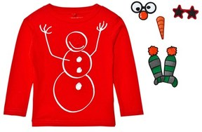Stella McCartney Red Snowman Barley Christmas Tee