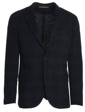Eleventy Men's Blue Cotton Blazer.