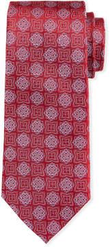 Neiman Marcus Floral Medallion Silk Tie