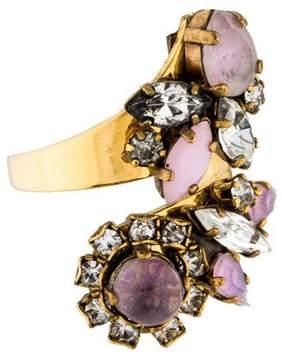 Erickson Beamon Crystal Bypass Ring