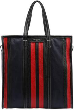 Balenciaga Medium Bazar Striped Leather Shopper