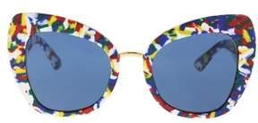 Dolce & Gabbana Dg4319 317672 Multicolor Cube Cat Eye Sunglasses.