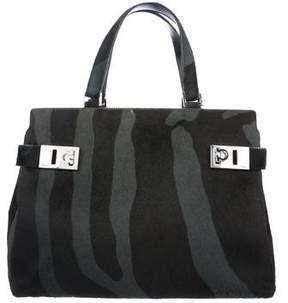 Salvatore Ferragamo Leather & Ponyhair Handle Bag