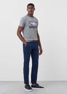 Mango Outlet Print flecked t-shirt