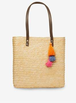 Dorothy Perkins Neutral Straw Tassel Shopper Bag