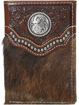 Ariat Calf Hair Concho Trifold Wallet Wallet