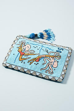 Anthropologie Beaded Postage Pouch