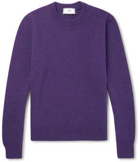 Ami Mélange Wool Sweater