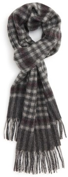 Nordstrom Men's Gingham Check Cashmere Scarf