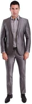 Nick Graham Men's Silver Shine Slim-Fit Unhemmed Suit