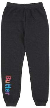 Butter Shoes Super Soft Solid Fleece Varsity Pant (Little Girls)