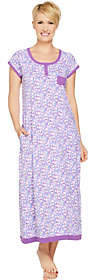 Carole Hochman Ditsy Field Cotton Knit Long Gown