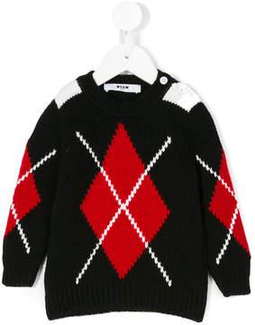 MSGM Argyle jumper