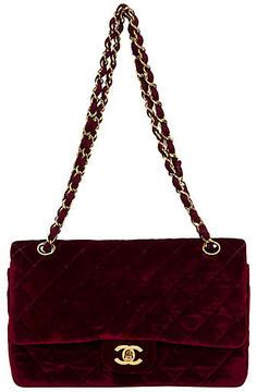 One Kings Lane Vintage 1990s Chanel Burgundy Velvet Bag