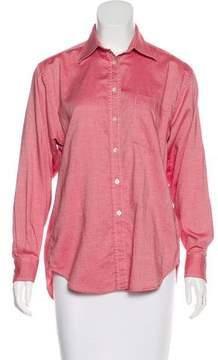 Aquascutum London Long Sleeve Button-Up Top